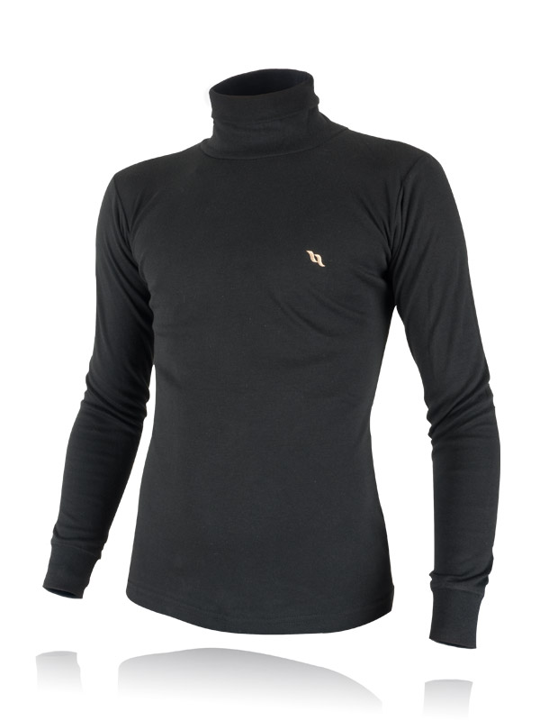 Back on Track (Human) POLO NECK SWEATER -MENS ( BLACK)-0