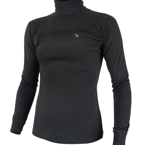 Back on Track (Human) POLO NECK SWEATER -WOMENS ( BLACK)-0