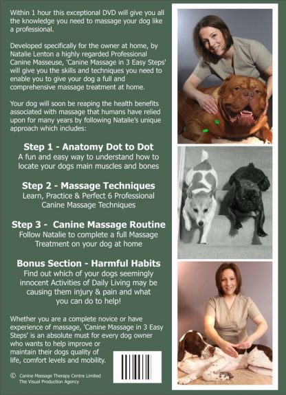 CANINE MASSAGE IN 3 EASY STEPS DVD-302